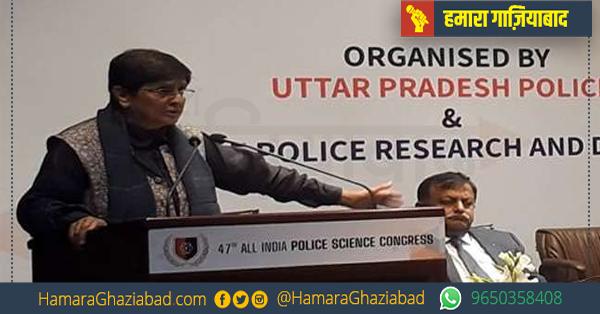 पूर्व आईपीएस किरण बेदी ने 47वीं ऑल इंडिया पुलिस साइंस कांग्रेस का किया शुभारंभ