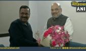 तीसरी बार मुख्यमंत्री बनने के बाद गृहमंत्री से मिले केजरीवाल, हुई दिल्ली के विकास पर चर्चा