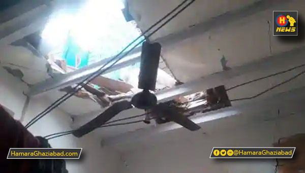 लोनी – मुस्तफाबाद कॉलोनी में सेलेंडर फटने से गिरी छत, एक महिला की मौत