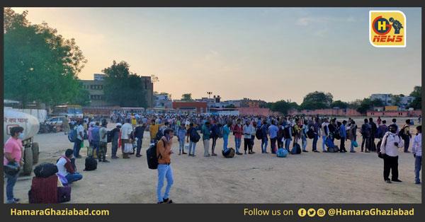 अव्यवस्थाओं के बीच 1420 प्रवासी मजदूरों को लेकर गाज़ियाबाद से बिहार के लिए रवाना हुई श्रमिक स्पेशल ट्रेन