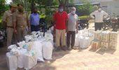 नामी कंपनियों के नाम से नकली घी बनाकर बेचने वाले दो गिरफ्तार