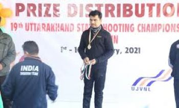मोदीनगर के शिवम त्यागी ने उतराखंड स्टेट शूटिंग चैंपियनशिप में किया शानदार प्रदर्शन