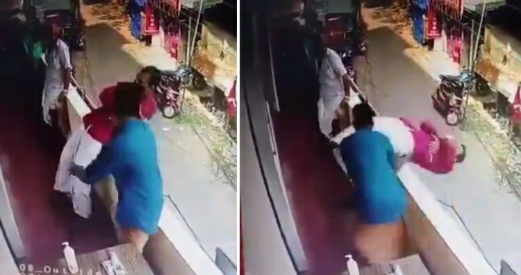 बिल्डिंग की बालकनी से अचानक गिरते व्यक्ति को इस शख्स ने गजब की फुर्ती से बचा लिया: वायरल वीडियो