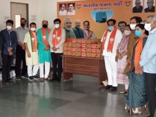 BJP ऑफिस से बंट रहा रेमडेसिविर:जिस इंजेक्शन की पूरे देश में शॉर्टेज, उसे BJP नेता मुफ्त बांट रहे; विपक्ष का सवाल- पार्टी ऑफिस में कैसे पहुंचा लाइफ सेविंग इंजेक्शन?
