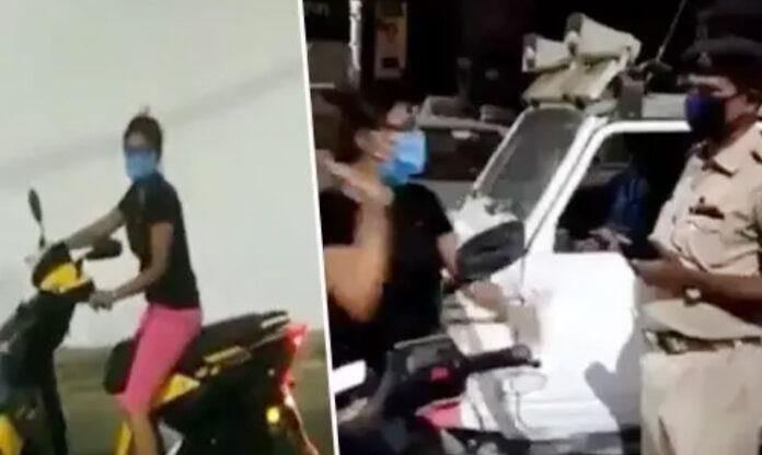 Patna: स्कूटी सवार युवती पुलिस वालों से बोली-चालान काटा तो मैं उसका काट दूंगी…