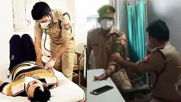 UP का यह पुलिस अधिकारी कर चुका है MBBS, अब कानपुर में कोरोना मरीजों का कर रहा इलाज
