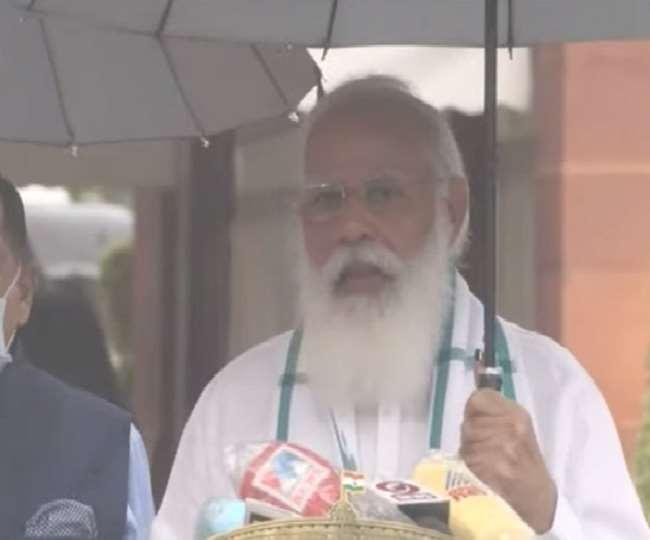 """Monsoon Session 2021 : पीएम मोदी ने कहा, अब तक 40 करोड़ से ज्यादा लोग कोरोना के खिलाफ लड़ाई में बन चुके """"बाहुबली"""""""