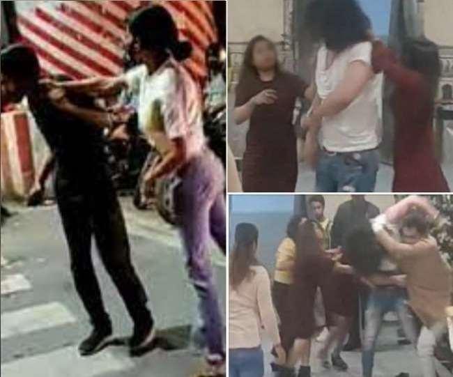 लखनऊ में उग्र हो रहीं लड़कियां: थप्पड़ ही नहीं खूब चला रही लात-घूंसे, जमकर वायरल हुए वीडियो