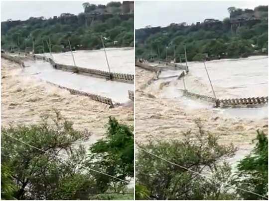 MP में 24 घंटे में 5 पुल टूटे:सिंध नदी पर बने थे पांचों पुल, दतिया में 3, भिंड और शिवपुरी में एक-एक पुल तिनके की तरह बह गए; दो और खतरे में, ट्रैफिक ठप होने से लगा जाम