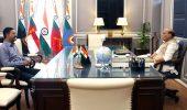 गाजियाबाद इंडस्ट्रीज फेडरेशन के अध्यक्ष अरुण शर्मा ने की रक्षा मंत्री से मुलाकात