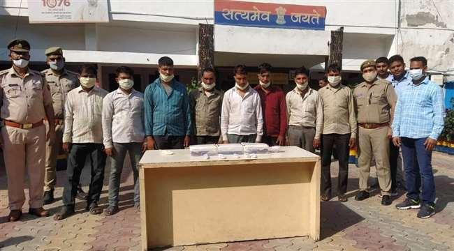 गाजियाबाद में बावरिया गैंग के आठ बदमाश पकड़े गए, लूट का माल बरामद